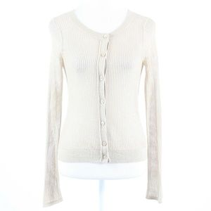 Beige gold semi-sheer EXPRESS cardigan sweater S